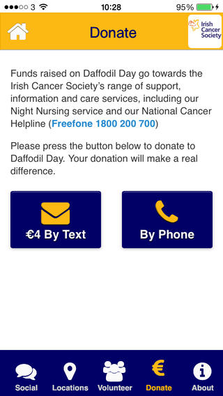 New Daffodil Day App launched  Download and Donate today
