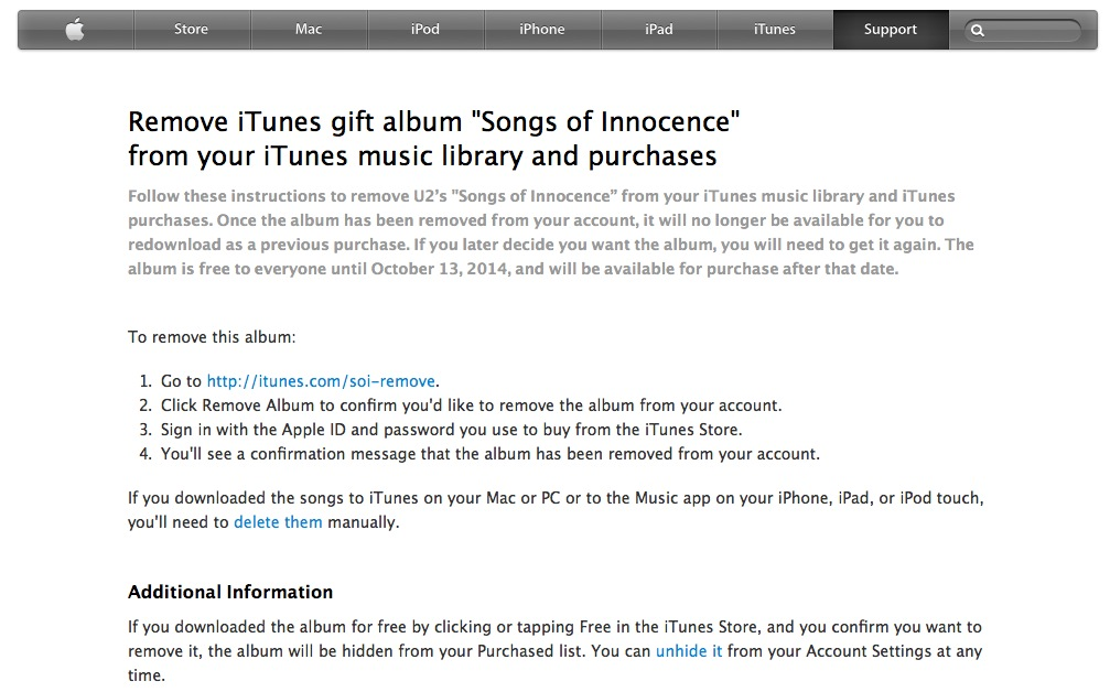 Apple Links U2 Album to iTunes Accounts! Removal Update
