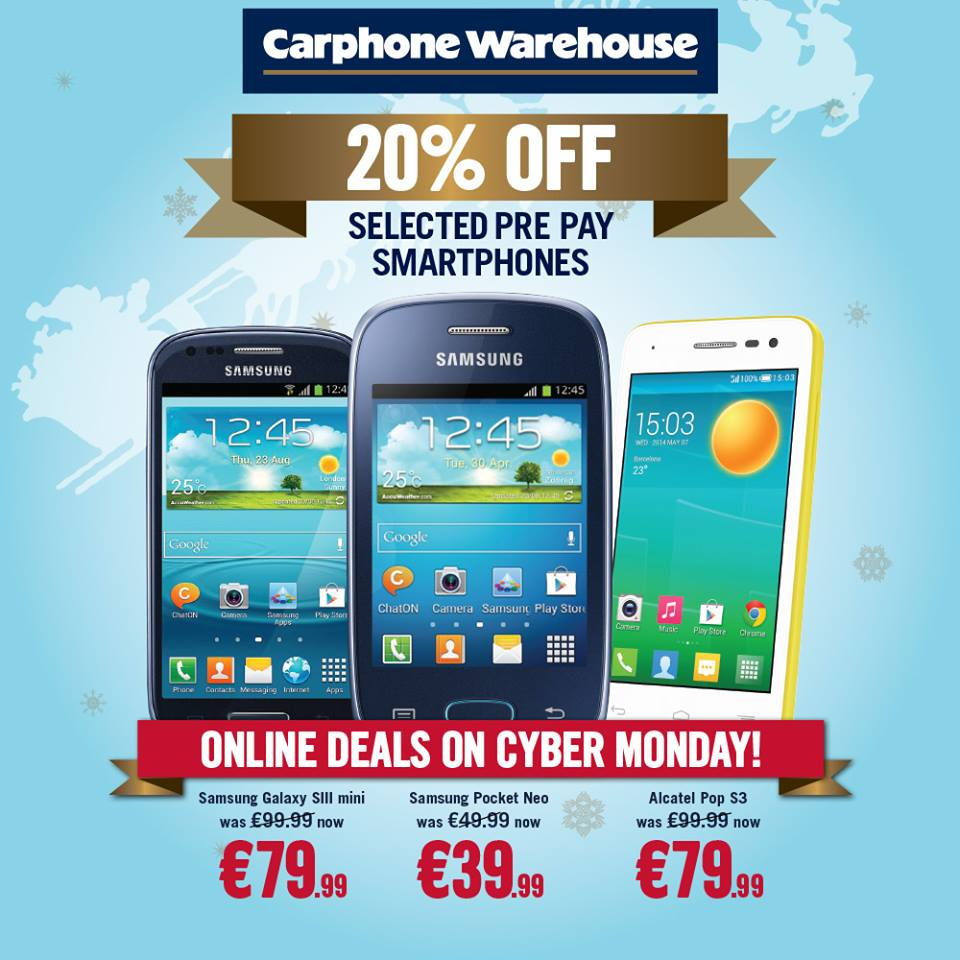 Cyber Monday Deals From Carphone Warehouse Irish Tech News