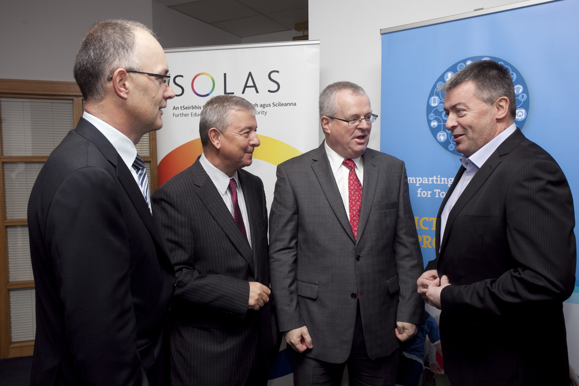 Pictured at the launch event were Mr. Liam Ryan, FIT Board Member and Managing Director of SAP Ireland; Peter O'Neill, Managing Director, IBM Ireland; Paul O'Toole, CEO, SOLAS; Peter Davitt, CEO, FIT
