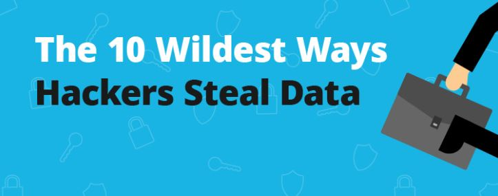 10 unexpected ways hackers can steal your data, cool infographic