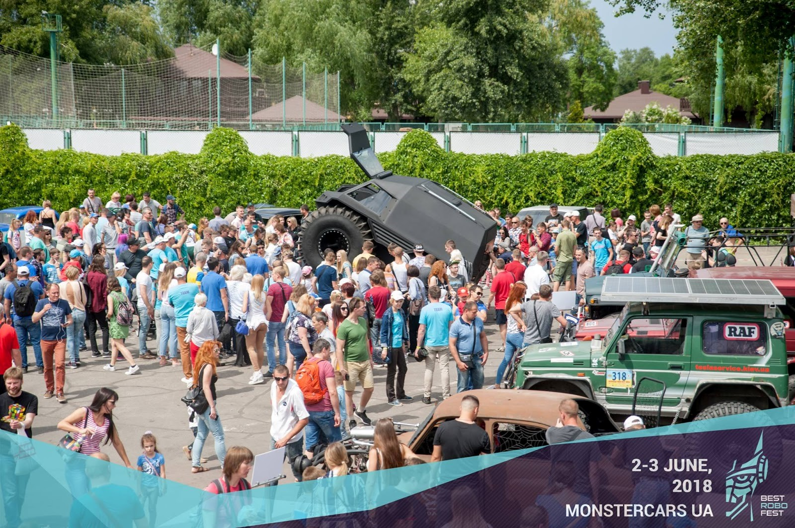 Monster Cars Show at Max Polyakov's BestRoboFest 2018