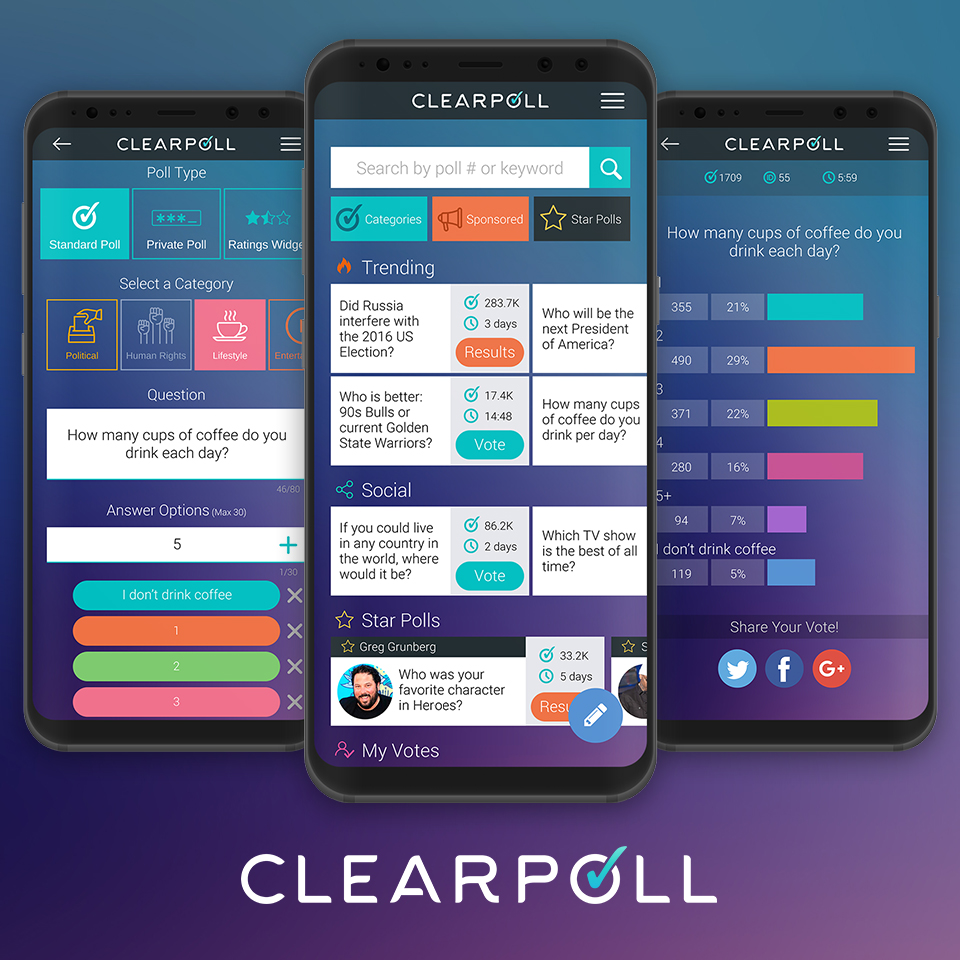 Decentralised Opinion Poll Network ClearPoll Release Beta