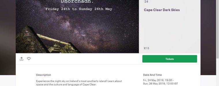 Cape Clear, Dark Skies, May 24-26