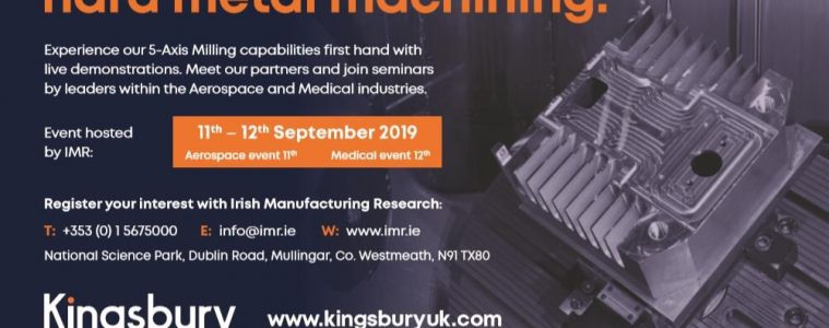 High performance, hard metal machining, 11th, 12th, September, National Science Park, Mullingar